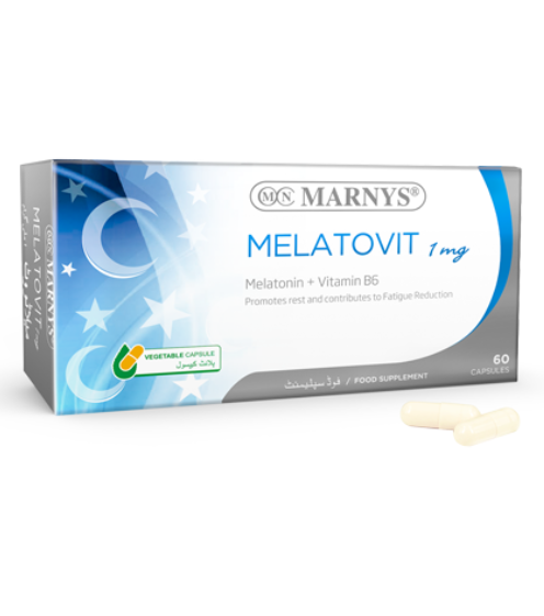 Marnys Melatonin (1mg) and Vitamin B6 - 60 Capsules