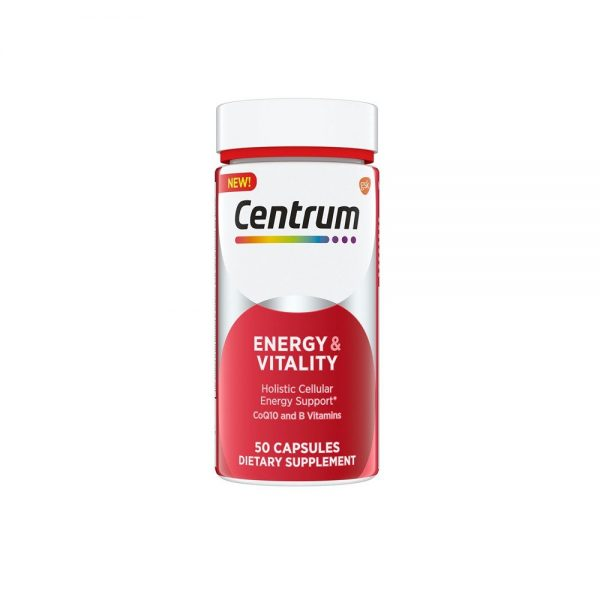 Vitality Holistic Cellular Energy and centrum energy Support 50 Capsules